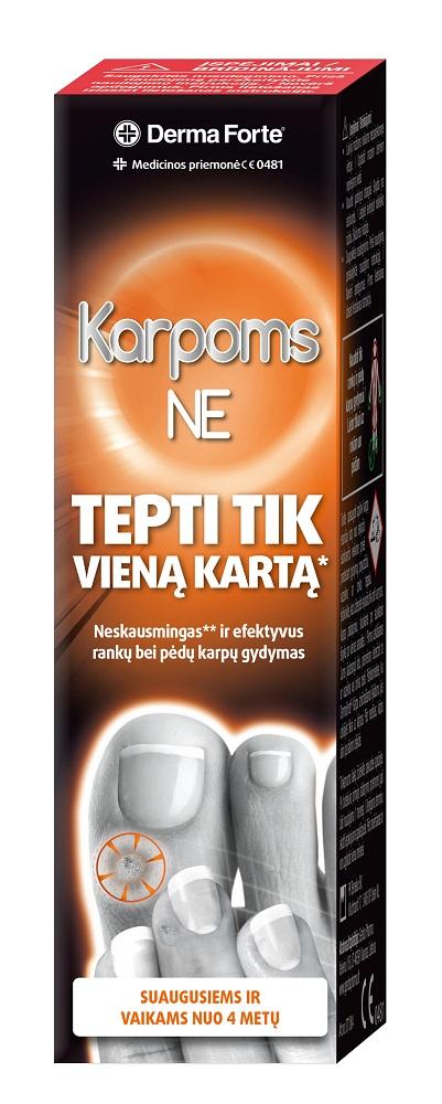 Efektyvi priemonė karpoms šalinti DERMA FORTE Karpoms NE, 2 ml