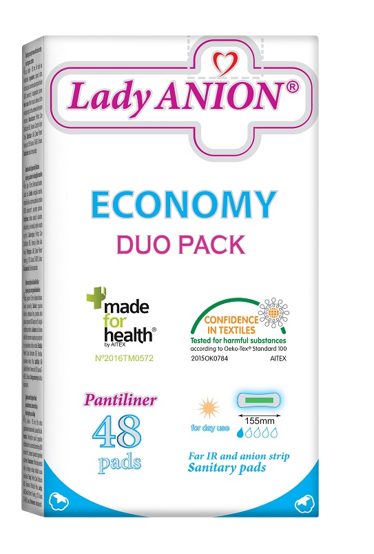 Thin liners for daily use Lady ANION Pantiliner