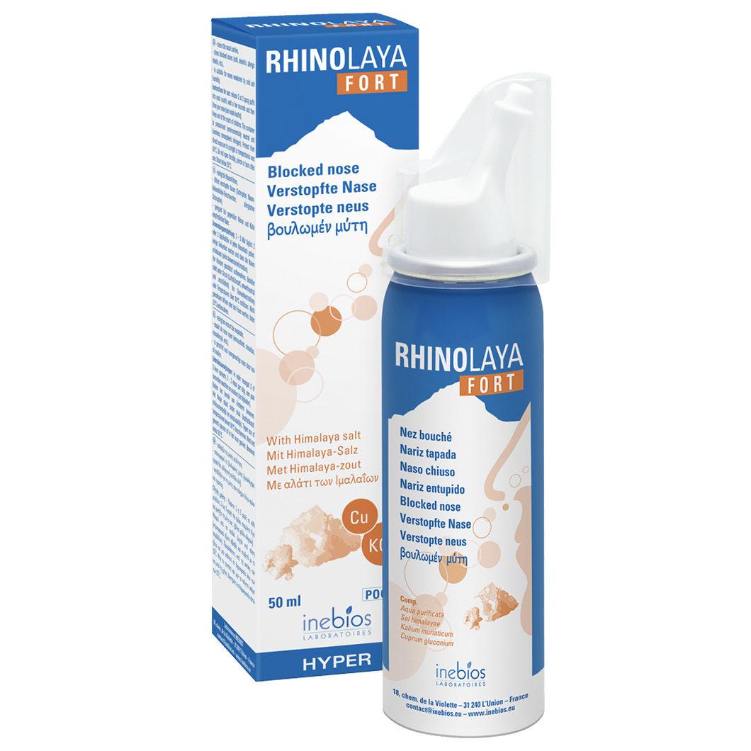Himalayan salt hypertonic nasal spray RHINOLAYA FORT, 50 ml