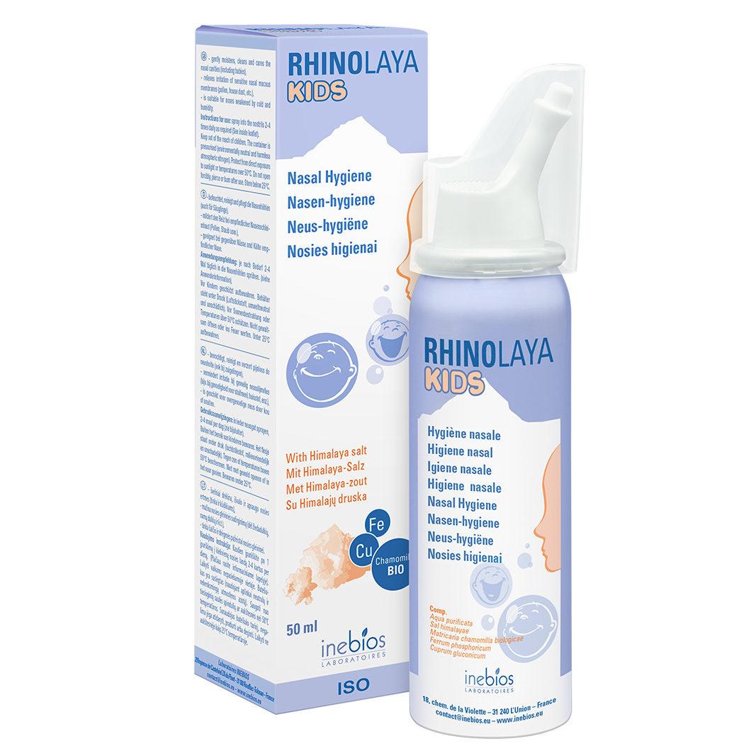 Himalajų druskos izotoninis nosies purškalas vaikams RHINOLAYA KIDS, 50 ml