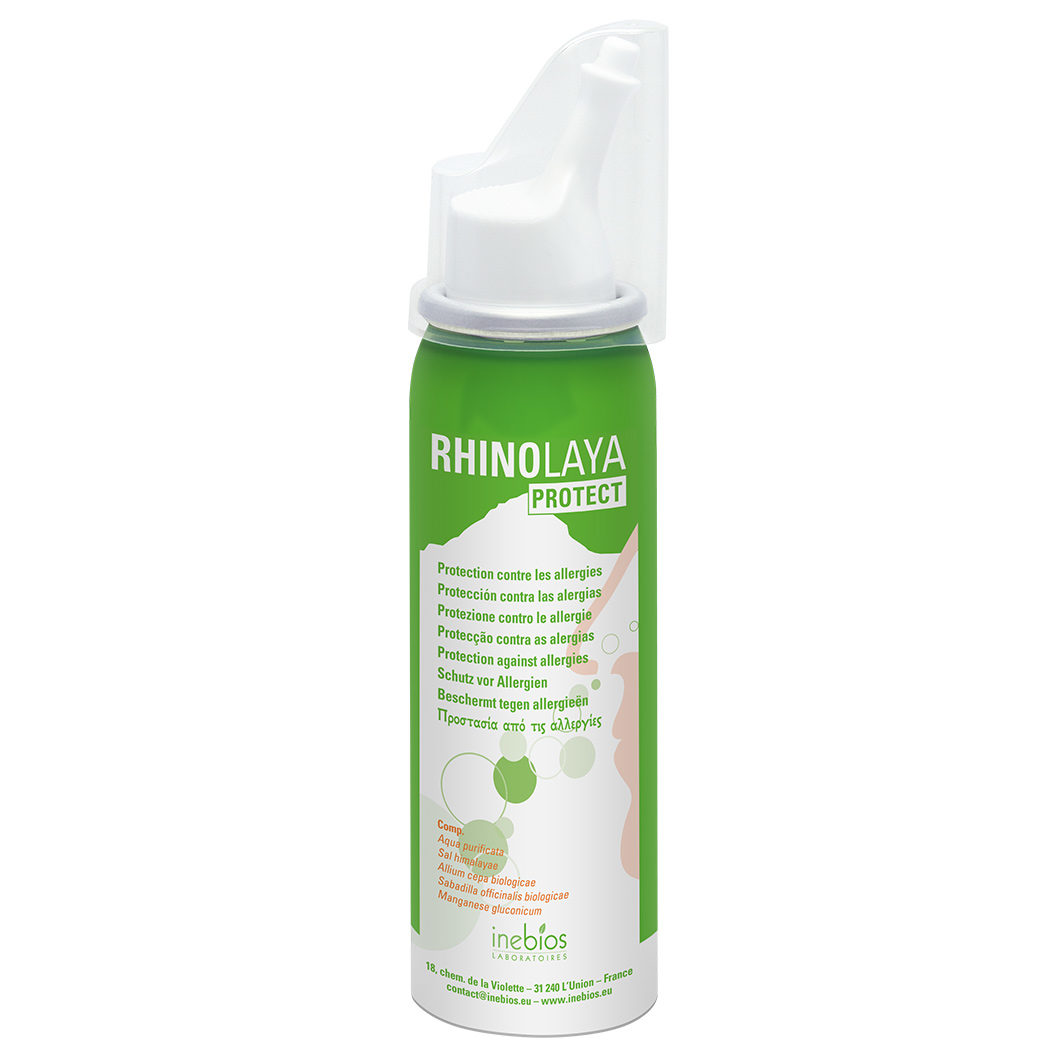 Himalajų druskos izotoninis nosies purškalas nuo alergijos RHINOLAYA PROTECT, 50 ml